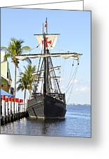 Replica Of The Christopher Columbus Ship Pinta Greeting Card