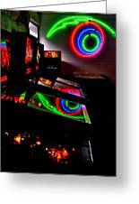 Replicant Arcade Greeting Card by Benjamin Yeager