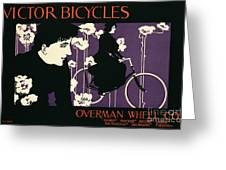 Reproduction Of A Poster Advertising Victor Bicycles Greeting Card