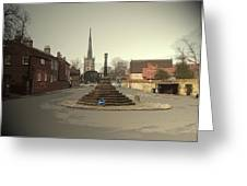 Repton Cross, This Spot Marks The Place Where Christianity Greeting Card