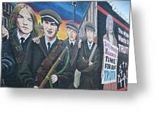 Republican Murals Against British Rule Greeting Card