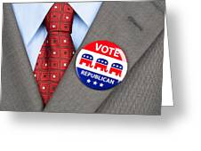 Republican Vote Badge Greeting Card
