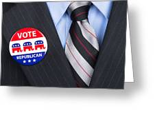 Republican Vote Pin Greeting Card