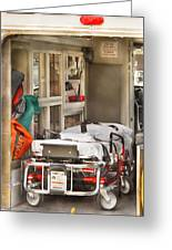 Rescue - Inside The Ambulance Greeting Card by Mike Savad