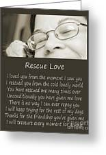 Rescue Love Adoption Greeting Card