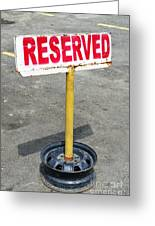 Reserved Signpost Greeting Card