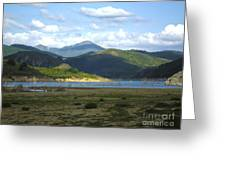 reservoir of Riano Leon Spain Greeting Card by Stefano Piccini