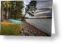 Reservoir Shoreline Greeting Card