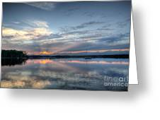 Reservoir Sunset Greeting Card