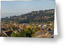 Residential Homes In Suburban North America Greeting Card
