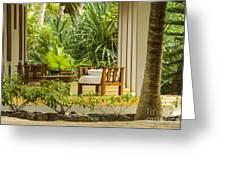 Resort Bungalow Near The Beach Greeting Card