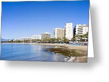 Resort City Of Marbella In Spain Greeting Card