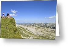 Rest In Beautiful Mountain Landscape Greeting Card