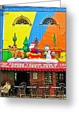 Restaurant In Gateway To The Amazon River In Iquitos-peru Greeting Card