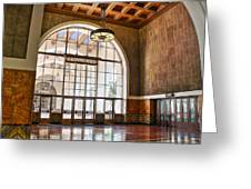 Restaurant In Los Angeles Union Station Greeting Card