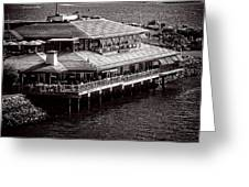 Restaurant On The Bay Greeting Card