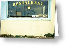 Restaurant Window Greeting Card