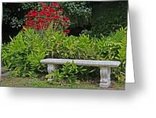 Restful Park Bench Greeting Card