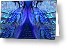 Psalm 91 Wings Greeting Card