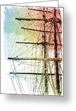 Resting In Harbor Greeting Card