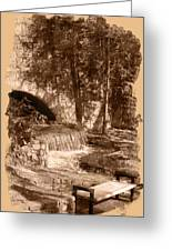 Resting Place - Digital Charcoal Drawing Greeting Card