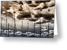 Resting Sailboats Greeting Card by Stelios Kleanthous