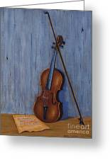 Resting Violin Greeting Card