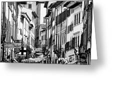 Restless In Arezzo-italy Greeting Card