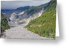 Restless Glaciers At Mount Rainier National Park Greeting Card