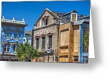 Restoration Work On King Street Greeting Card