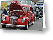 Restored Classic Cars Greeting Card