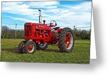 Restored Farmall Tractor Hdr Greeting Card