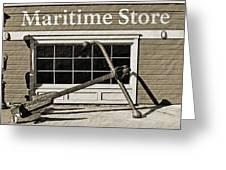 Restored Maritime Store Greeting Card