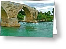 Restored Roman Bridge Over Eurynedan River-turkey Greeting Card