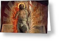 Resurrection Greeting Card by Andrea Mantegna