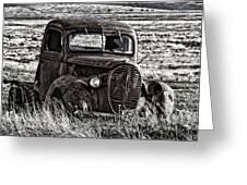 Retired Farm Truck Greeting Card