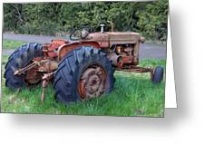 Retired Tractor Greeting Card