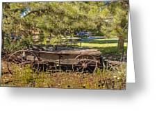Retired Wagon At Thousand Trails Greeting Card