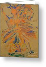 Retrato De Una Bailarina Greeting Card