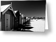 Retro Beach Huts II Greeting Card