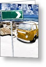 Retro Beach Van Greeting Card