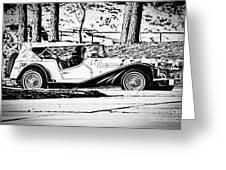 Retro Cabriolet Greeting Card