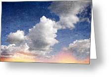 Retro Clouds 2 Greeting Card