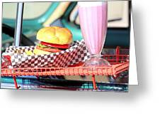 Retro Diner. Greeting Card