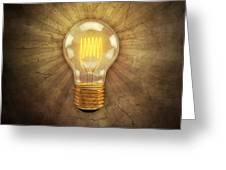 Retro Light Bulb Greeting Card