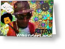 Retro Wounderland Greeting Card
