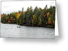 Returning From A Canoe Trip Greeting Card