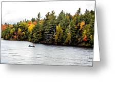 Returning From A Canoe Trip - V2 Greeting Card