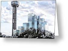 Reunion Tower Dallas Texas Greeting Card