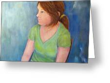 Reverie Of A Young Woman Greeting Card